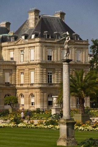 Luxembourg Palace Gardens In Paris France France Travel Beauty