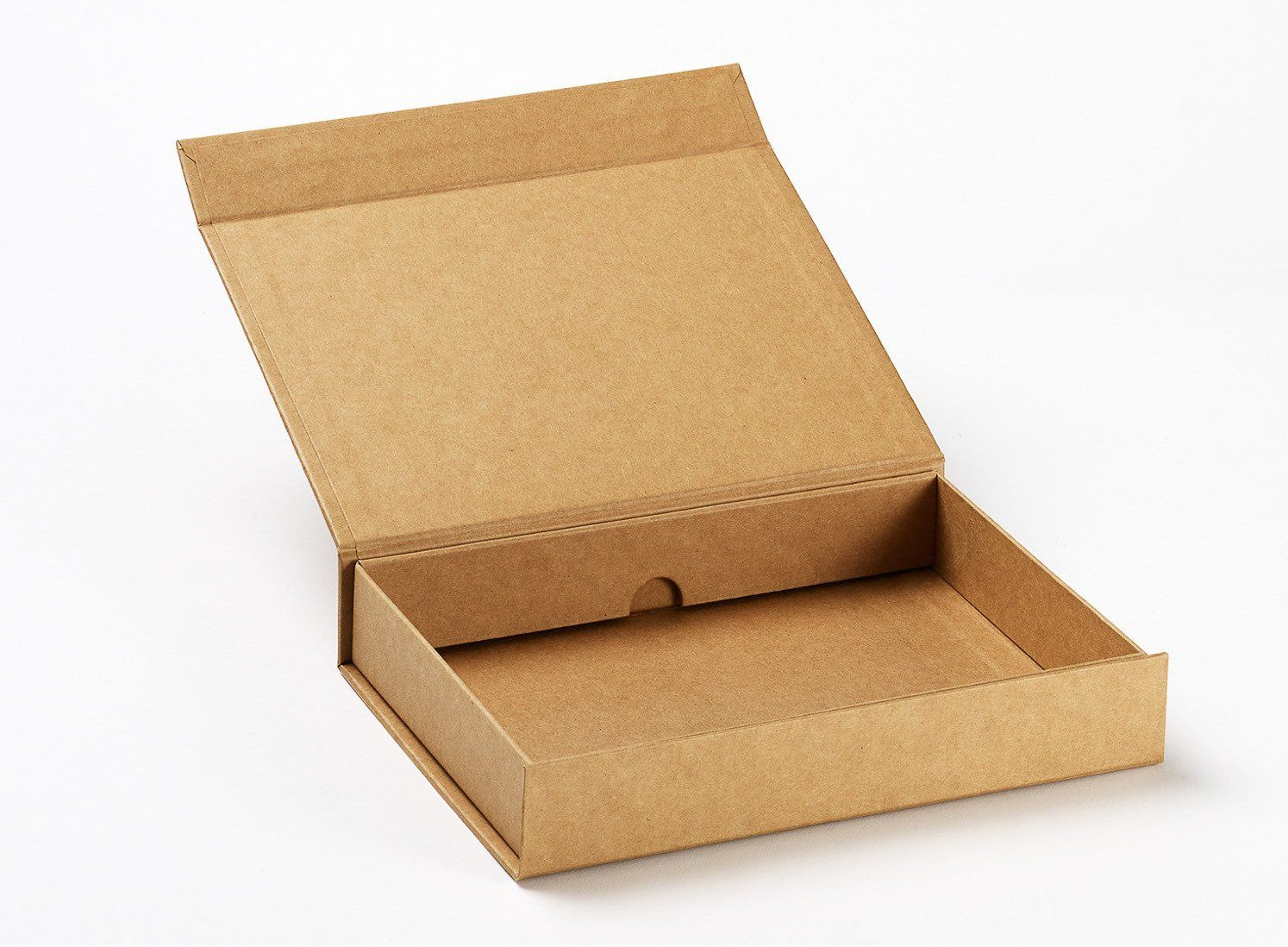 Natural Kraft A5 Shallow Gift Boxes No Ribbon Onoxa Packaging