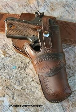 Replica WWII Army type Leather Shoulder Holster fits Colt 1911 .45 Govt Auto