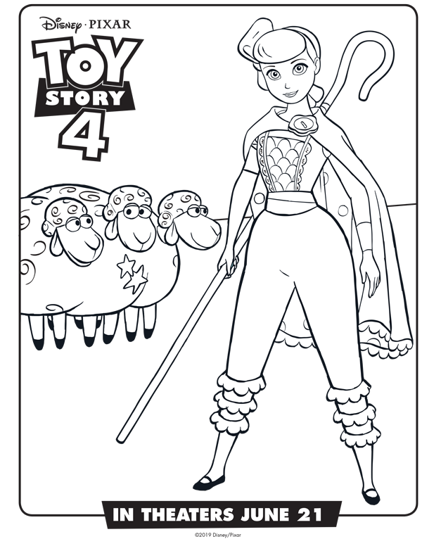 New Toy Story 4 Free Coloring Sheets Bo Peep And Billy Goat And Gruff Free Printable She Toy Story Coloring Pages Disney Coloring Pages Coloring Pages For Kids
