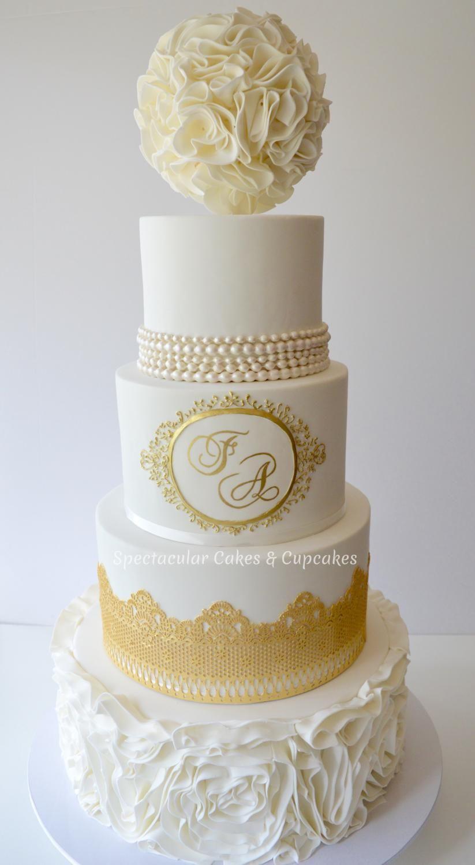 Gold Wedding Cake Sydney