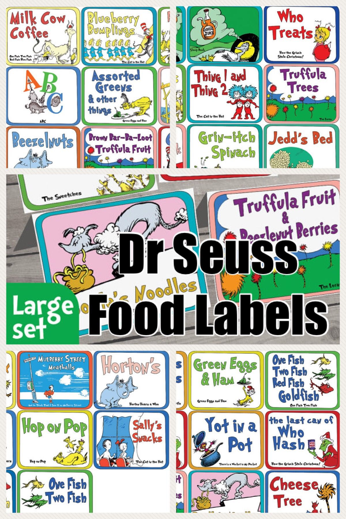 Many Of The Most Popular Dr Seuss Books Have Menu Inspiring Food