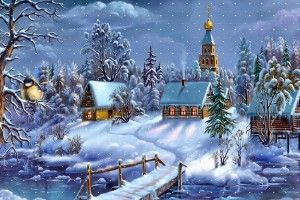 Christmas Scenery Wallpapers Desktop Wallpapers Hd Free Photos Cool Landscape Wallpaper Home Imag Christmas Scenes Christmas Pictures Animated Christmas
