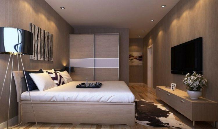 Déco noir et blanc avec touches de couleur chambre à coucher Idée