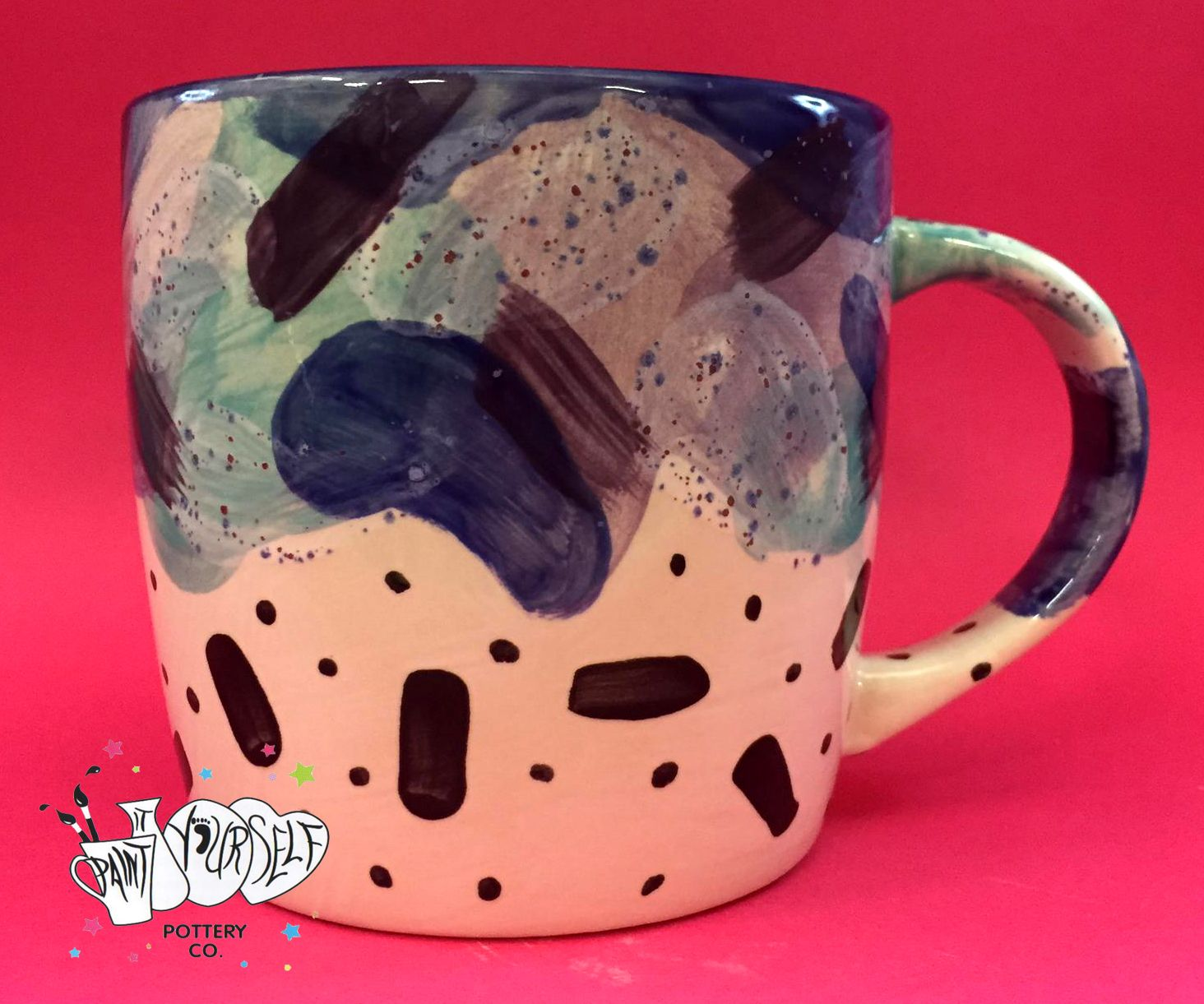 Abstract mug in 2020 Painting for kids, Great coffee