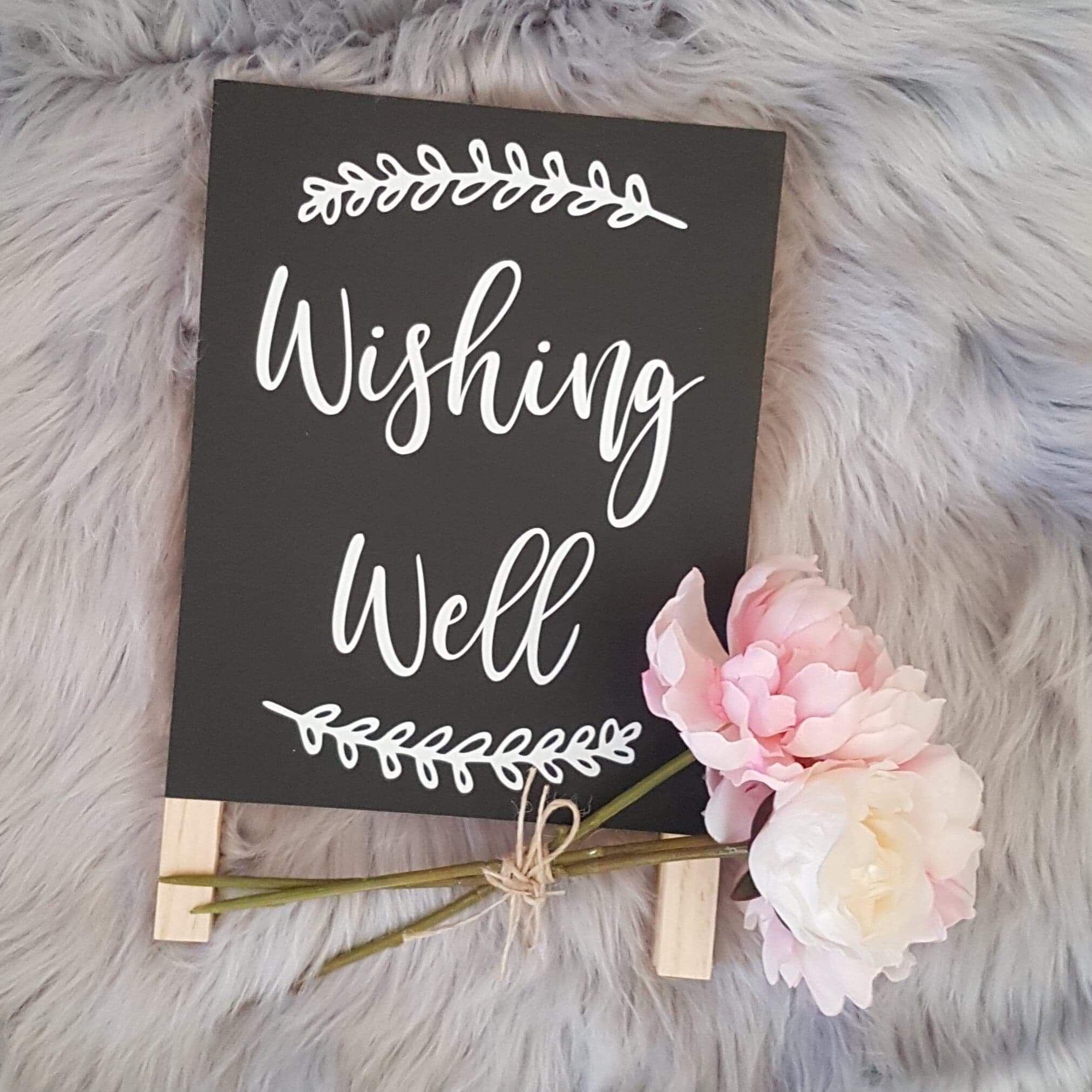 Diy Wishing Well Decal Etsy Wishing Well Wedding Diy Wedding Rustic Wedding Diy