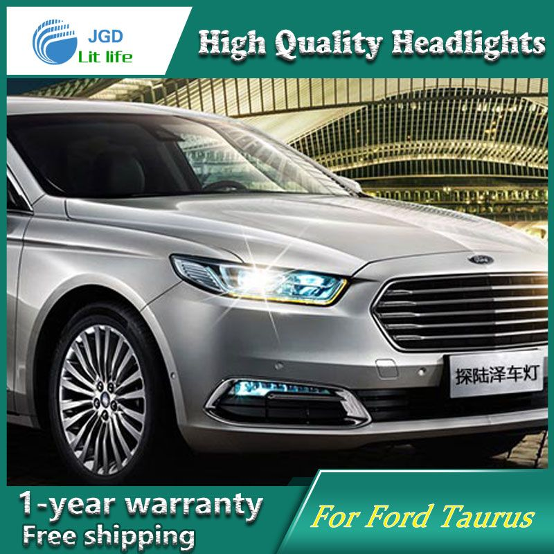 High Quality Car Styling Head Lamp Case For Ford Taurus 2015 2017 Led Headlight Drl Daytime Running Light Bi Xenon Hid Car Lights Led Headlights Car
