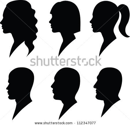 Face In Profile Silhouette Face Man And Woman Silhouette Woman Face Silhouette