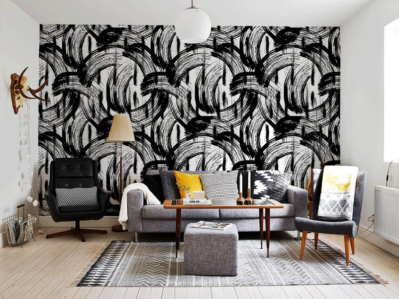 Removable Wallpaper Peel And Stick Wallpaper Wall Paper Wall Etsy In 2020 Removable Wallpaper Wall Wallpaper White Wallpaper
