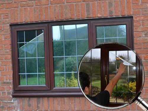 Silver Reflective Window Film Solar Control Privacy Tint One Way Mirror Mirrored Glass 100cm X 2 Metres Mirror Window Film Window Film Window Film Diy