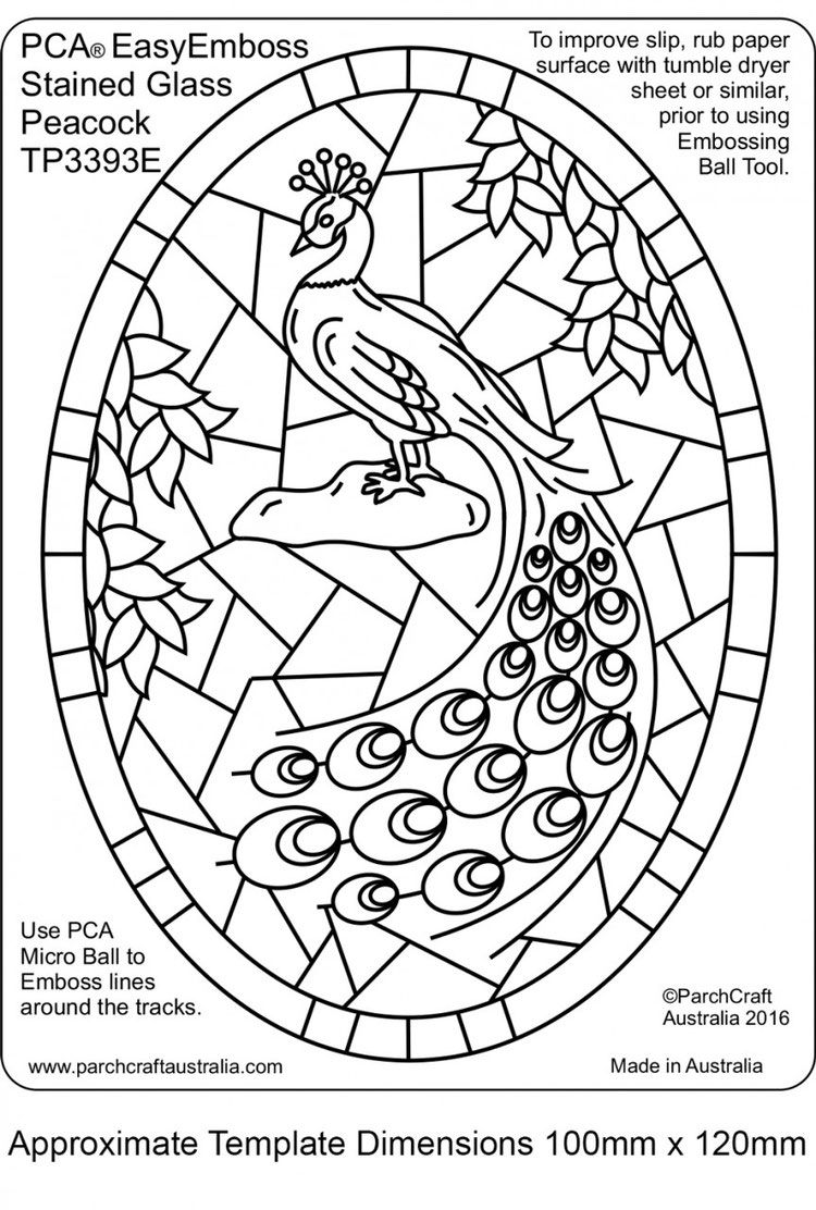 Pca template stained glass peacock pergamano parchment templates pca template stained glass peacock maxwellsz