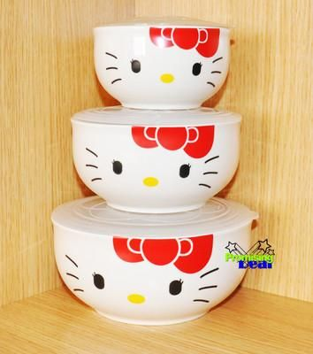 I found '3-piece Hello Kitty Ceramic Bowl Storage Containers Set w/lids Clear 3 size' on Wish, check it out!