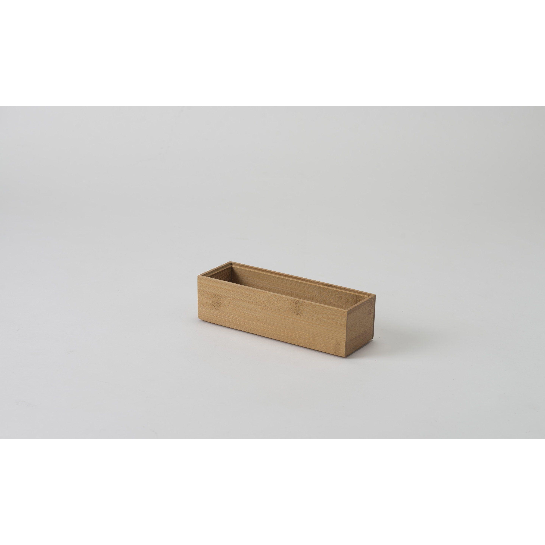 Organiseur De Tiroir Bambou Compactor L 22 5 X P 7 5 Cm Bambou Et Tiroir