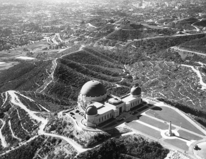 Aerial View Of Griffith Observatory And Vicinity Hollywood Hills 1936 California History Los Angeles History Los Angeles