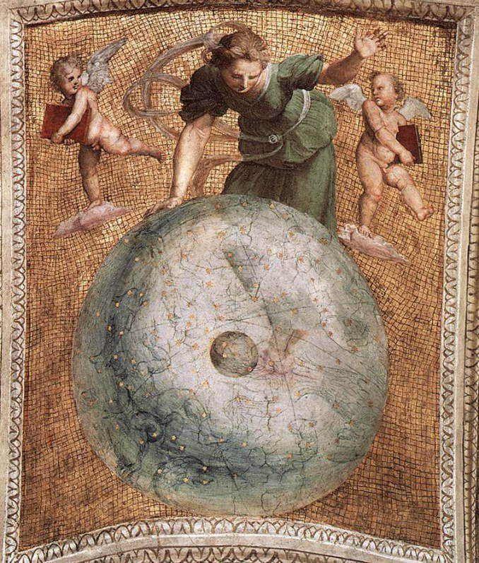 署名の間 天井 宇宙の瞑想 アートのアイデア ルネサンスアート