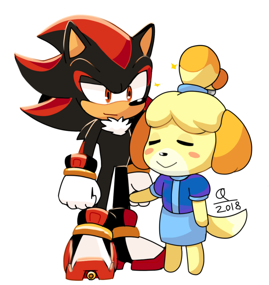 Shadow And Isabelle Super Smash Brothers Ultimate Super Smash Brothers Smash Brothers Sonic And Shadow