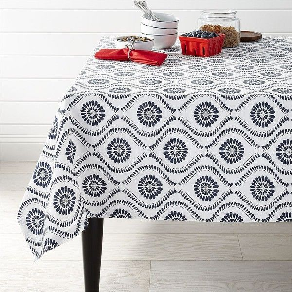Crate Barrel Kiran Indigo 60 Square Tablecloth 50 Liked