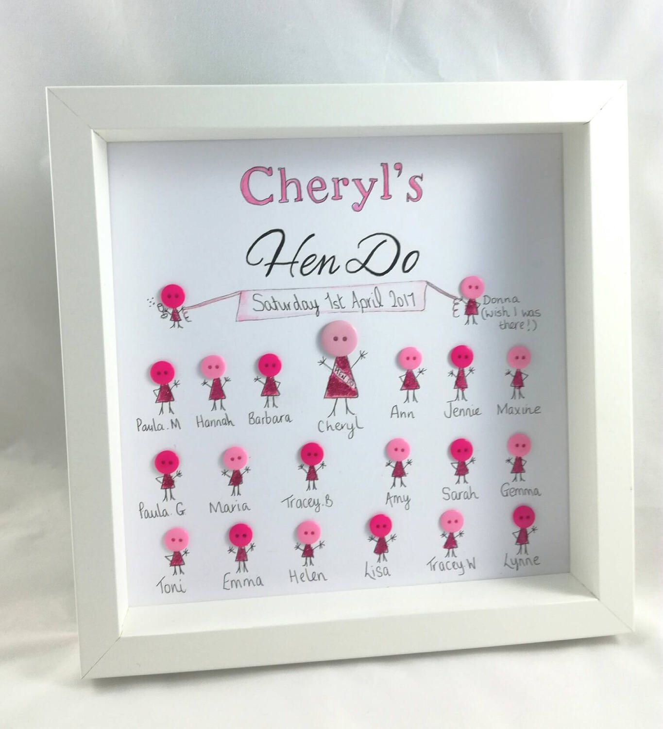 Hen Party Gift Do Gifts On Frame Personalised For Her Bride To Be
