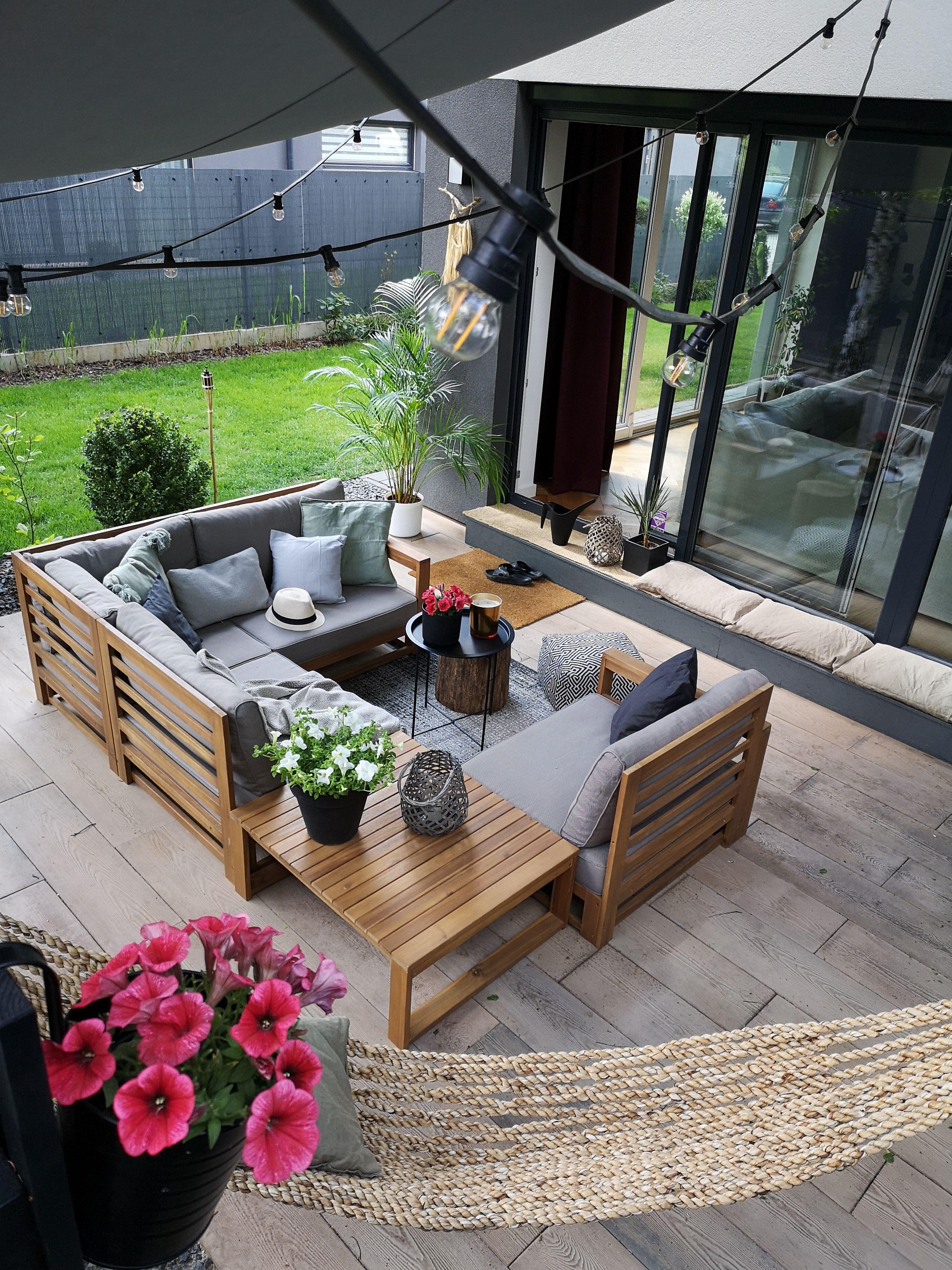 Exklusives Modernes Und Vielseitiges Gartenset Aus Wunderschonem Akazienhartholz Garten Lounge Set Loungeecke Garten Loungemobel Garten