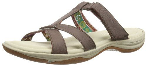 Fit Brown Womens Skechers Pillow 7 Sandals Slide Relaxed Tops 5cqz4z