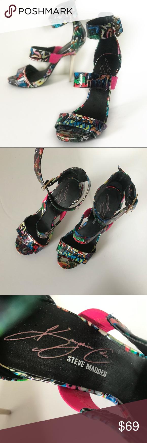 2212a74708c Steve Madden Keysha Cole Shoes Heels Graffiti 6.5M Steve Madden Keysha Cole  Womens Shoes Tellme