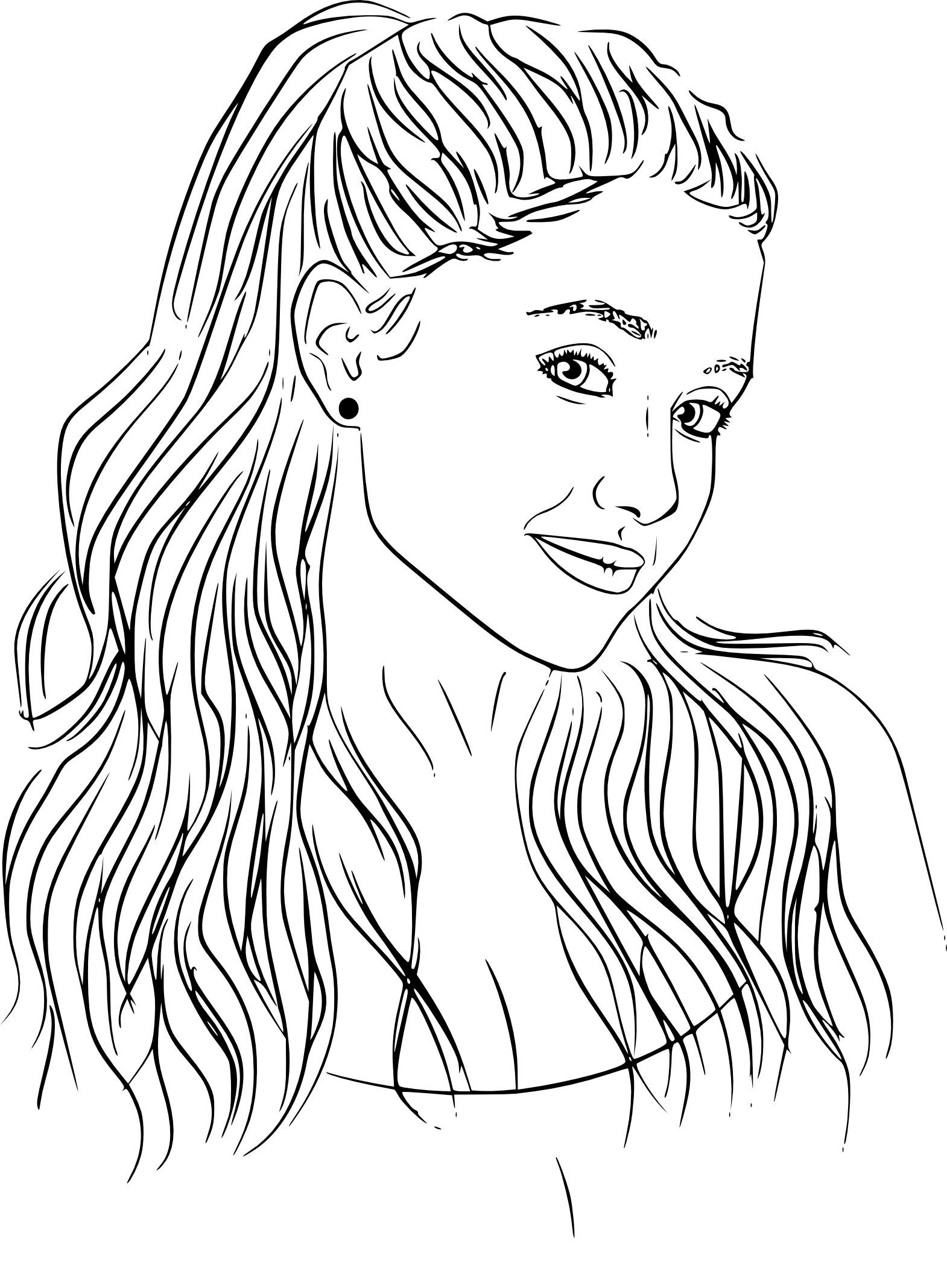Cute Ariana Grande Coloring Pages - Thekidsworksheet
