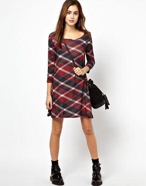 Image 4 of Vero Moda Plaid  Swing Dress