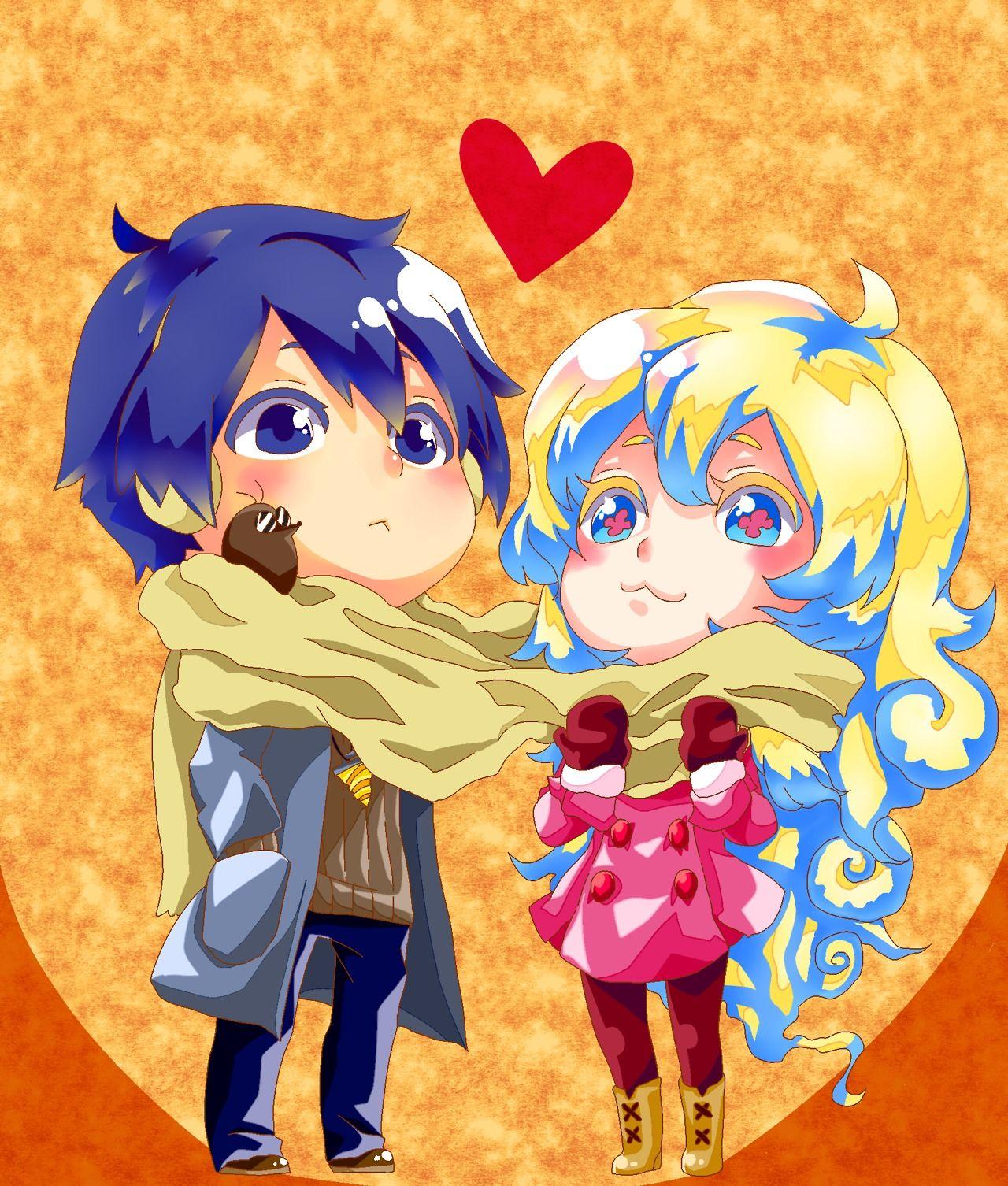 Nia and Simon Gurren Lagann Romantic anime, Gurren lagann