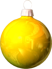 yellow christmas ornament - Yellow Christmas Decorations