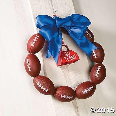 Football Wreath Decor Idea