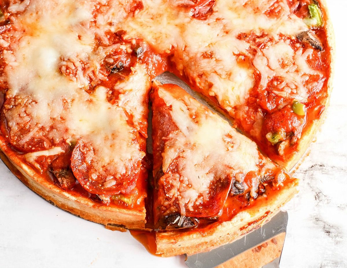 Keto Deep Dish Pizza Recipe Deep Dish Pizza Recipe Keto