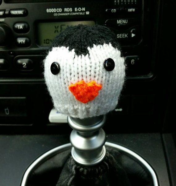 9000c9374db Penguin Style Gear Knob Beanie Hat by NutkinsKnits on Etsy ...