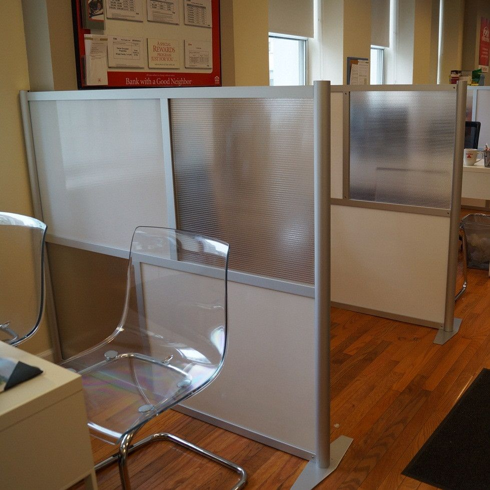60 Quot Wide X 51 Quot High Office Partition Translucent White