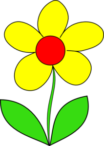 Flower yellow. Clip art arts and