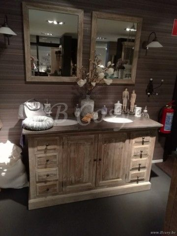 ll-bath-120w-armoire meuble de salle de bain rustique style campagne