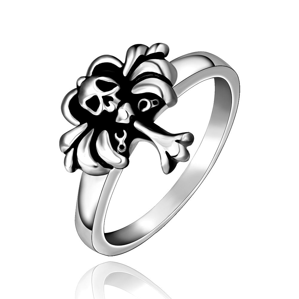 metallic rings mcqueen skeleton silver gallery in lyst ring twin product jewel jewelry alexander