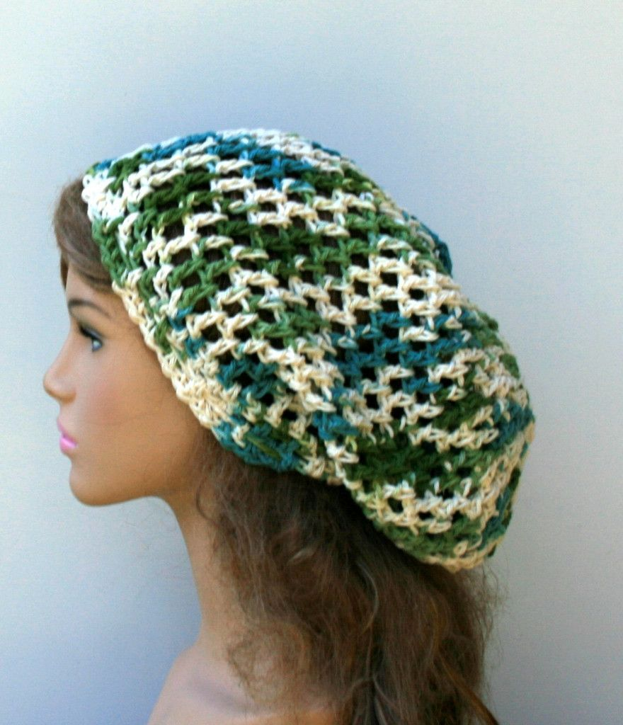 Cotton mermaid slouchy beanie hippie smaller dread tam