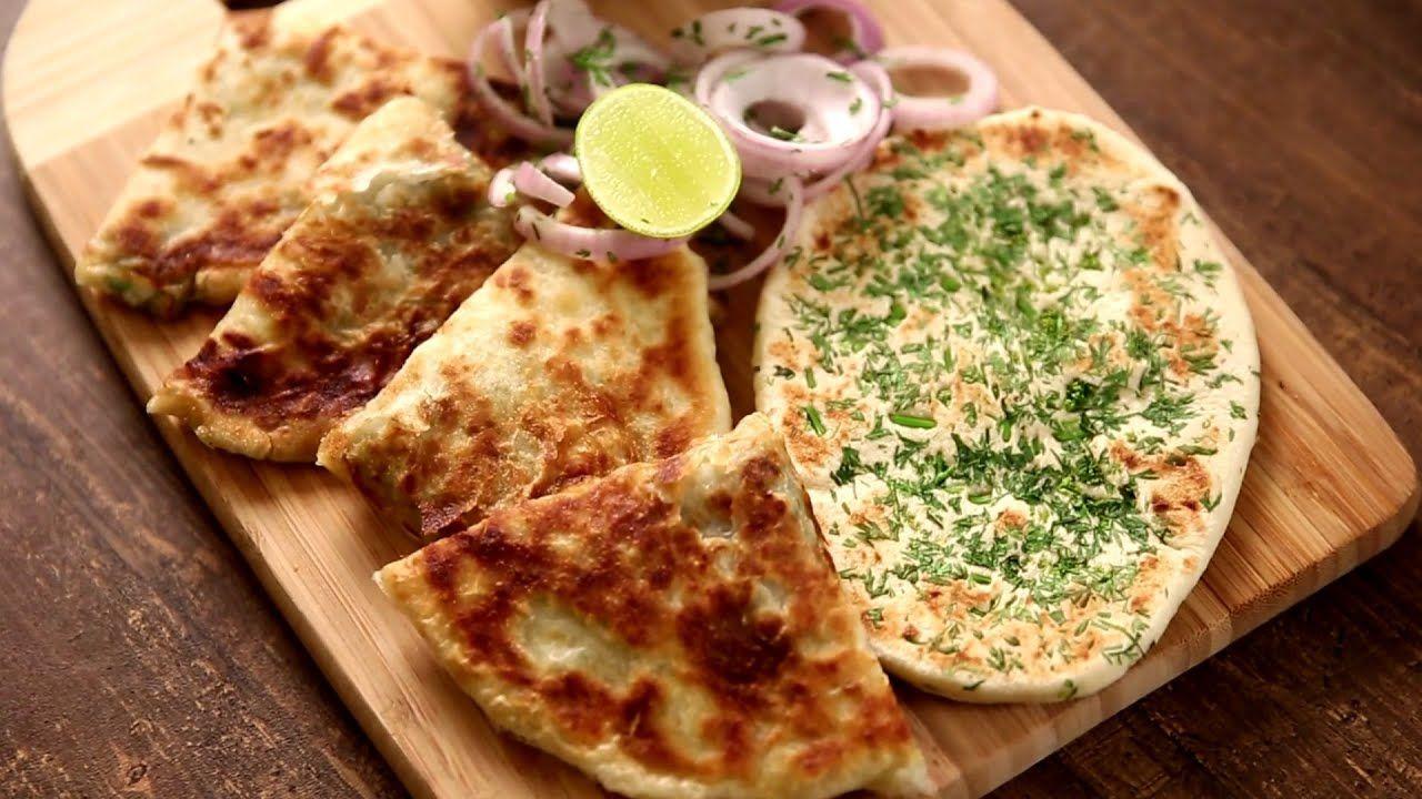 Amritsari Kulcha Recipe   Homemade Plain And Aloo Kulcha ...