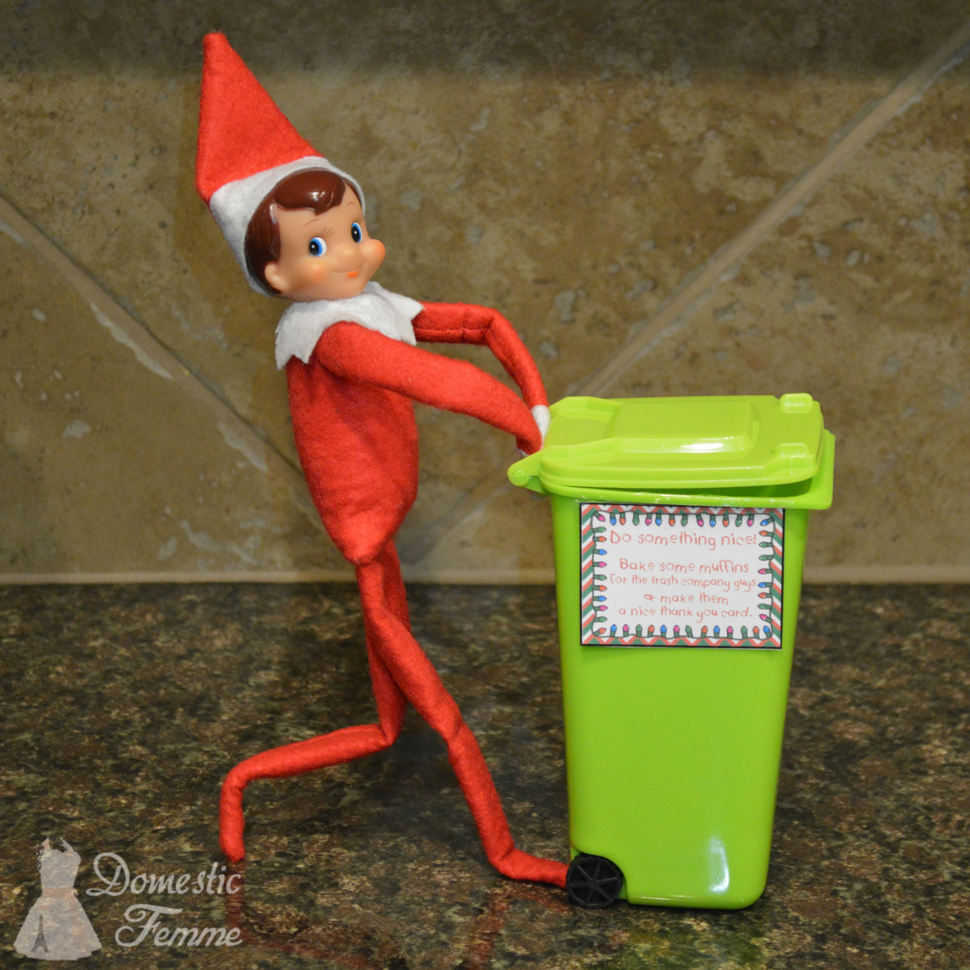 Bake muffins for the trash company guys  Elf On The Shelf 2015 Calendar 25  Elf On The Se Bake muffins for the trash company guys  Elf On The Shelf 2015 Calendar 25  Elf...