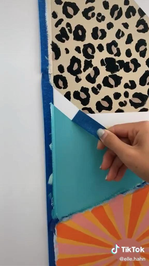 So Satisfying Video Diy Painting Bedroom Art Painting Diy Canvas Art Painting