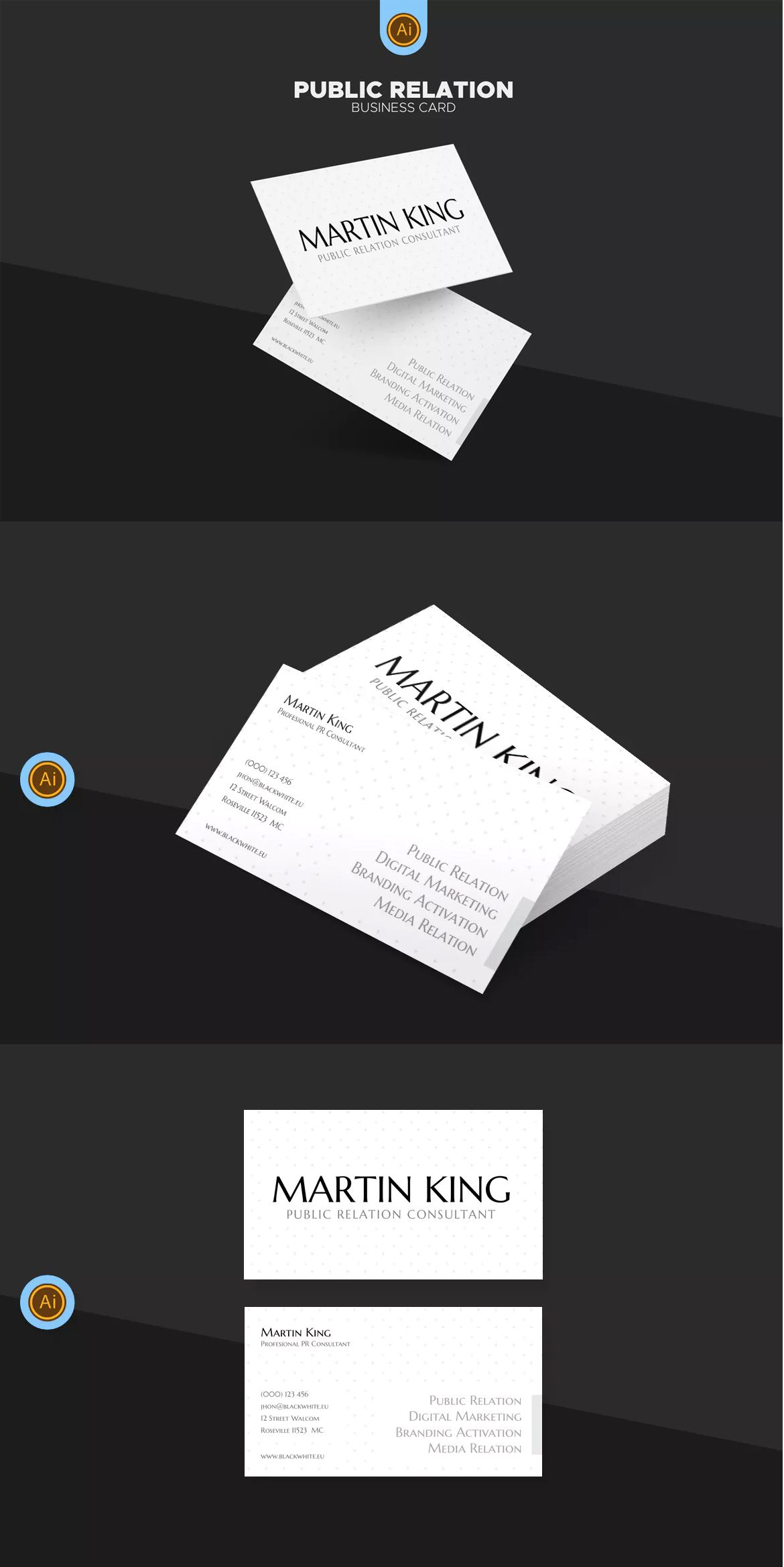 PR Marketing Business Card Template AI  EPS  unlimiteddownloads     PR Marketing Business Card Template AI  EPS  unlimiteddownloads