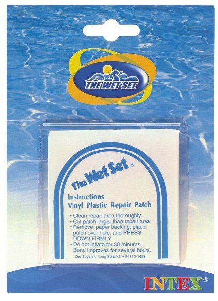 Intex – Wet Set Adhesive Vinyl Plastic Repair Patch | 59631EP [Lawn & Patio]
