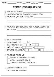 Blog Educacao E Transformacao Texto Engarrafado Alfabetizacao