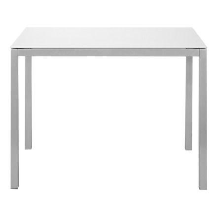 Mesa de cocina de metal y cristal Bristol | Decoración Hogar ...