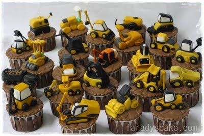Construction Equipment Cupcake | Where Everything Is Made With Love