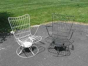 Vintage Patio Furniture Mid Century Post 50s 60s Modern Homecrest Wire Chairs
