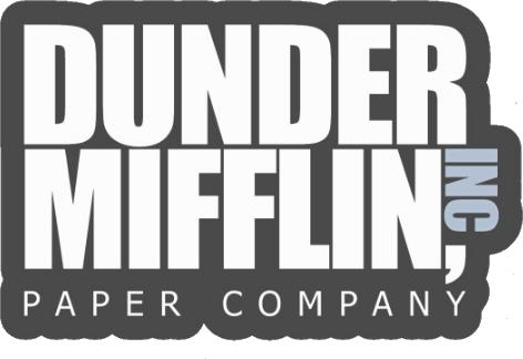 Dunder Mifflin Paper Company Sticker 3 5 Decal Paper Companies Mifflin Dunder Mifflin