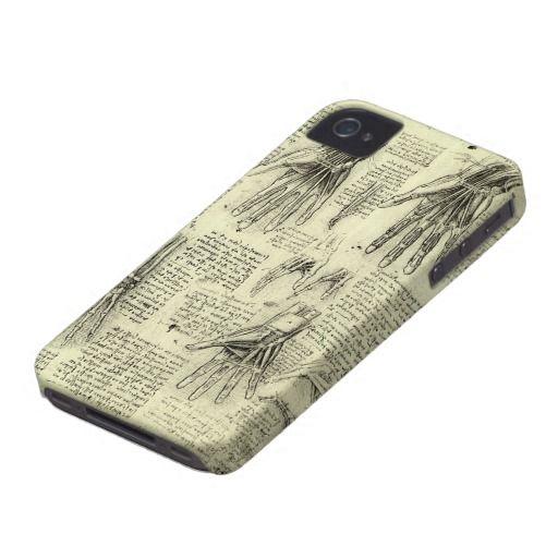 Anatomy Of The Human Hand By Leonardo Da Vinci Case Mate Iphone 4