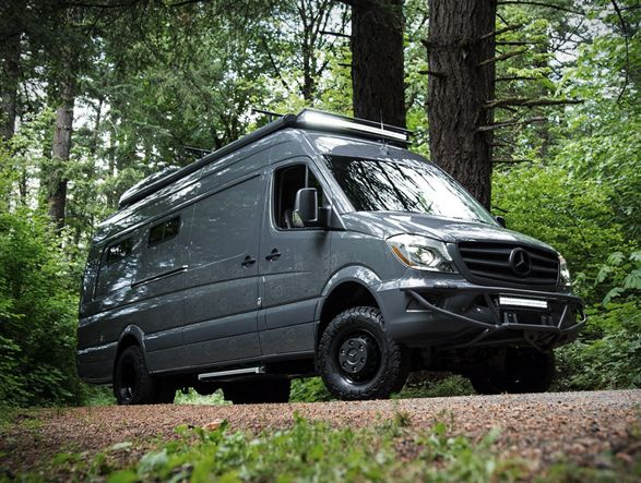 Outside Van Mercedes Sprinter Camper Van Mercedes Camper