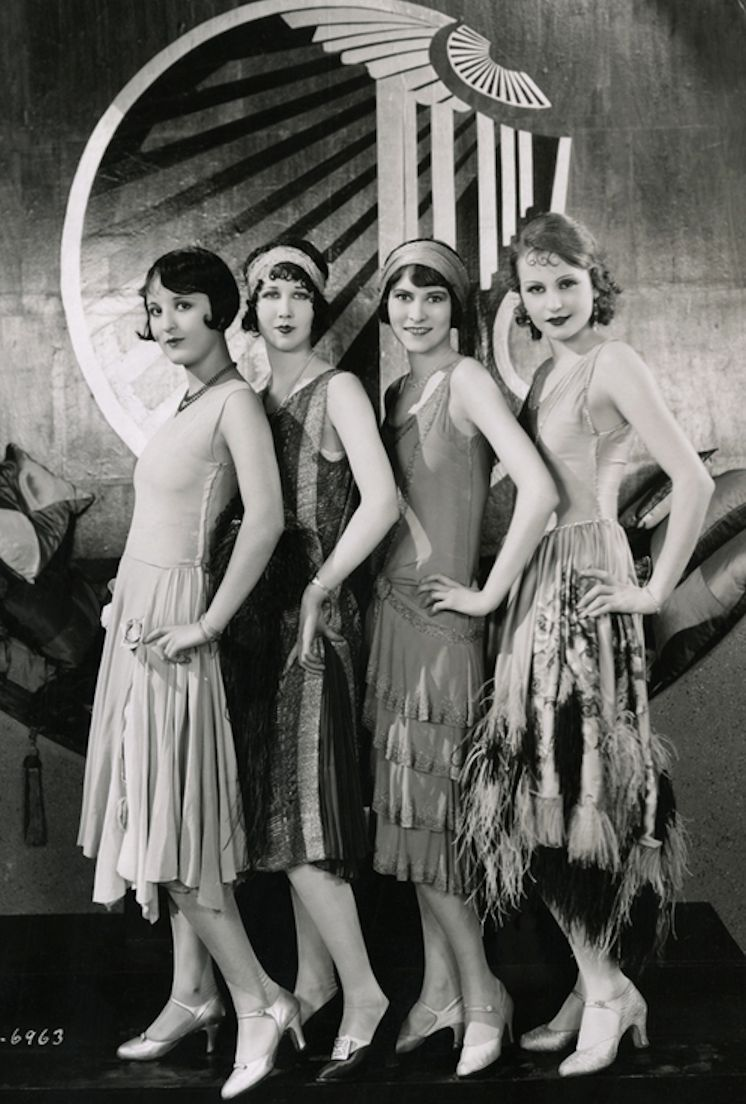 Chorus Girls on the set of Becky, 1927, Costume design by Clement Andre-Ani